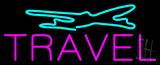 Purple Travel Turquoise Logo Neon Sign