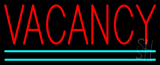 Vacancy with Double Line Neon Sign