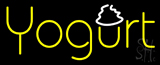 Yellow Horizontal Yogurt Neon Sign