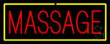 Red Massage Yellow Border Neon Sign