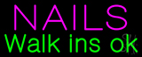 Nails Walk Ins OK Neon Sign