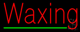Red Waxing Green Line Neon Sign