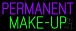 Purple Permanent Green Make-up Neon Sign