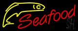 Red Seafood Yellow Logo Neon Sign
