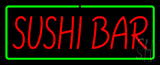 Sushi Bar with Green Border Neon Sign