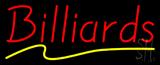 Billiards Yellow Line Neon Sign
