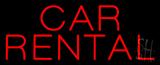 Car Rental Neon Sign