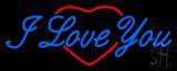 I Love You Logo Heart Logo Neon Sign