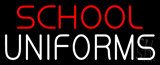Red School White Uniforms Neon Sign