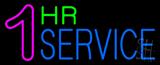 1 Hr Service Neon Sign