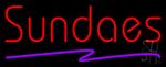 Red Sundaes Purple Line Neon Sign