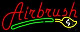 Red Airbrush Logo Neon Sign