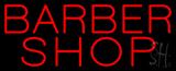 Red Barber Shop Neon Sign