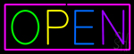 Open - Multicolor Neon Sign