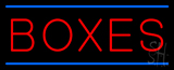 Boxes Double Line Neon Sign