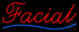 Cursive Red Facial Blue Waves Neon Sign
