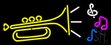 Trumpet logo Neon Sign