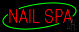 Deco Style Red Nails Spa Neon Sign