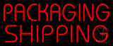 Red Packaging Shipping Block Neon Sign