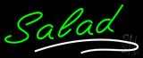 Green Salad White Line Neon Sign