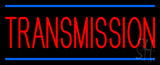 Red Transmission Blue Lines Neon Sign