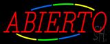 Multi Colored Abierto Neon Sign