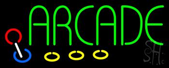 Green Arcade Neon Sign