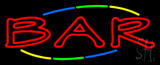 Multi Colored Bar Neon Sign