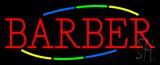 Deco Style Multi Colored Barber Neon Sign