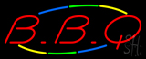 Multicolored Red BBQ Neon Sign