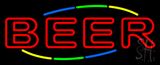 Double Stroke Red Beer Neon Sign