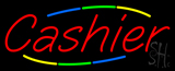 Multi Colored Cashier Neon Sign