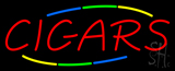 Red Deco Style Cigars Neon Sign