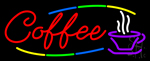 Deco Style Red Coffee Neon Sign