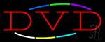 Multicolored Deco Style DVD Neon Sign