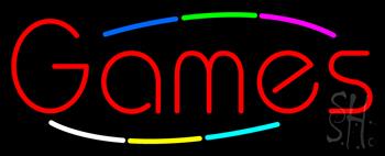Multicolored Deco Style Games Neon Sign