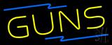 Yellow Guns Neon Sign