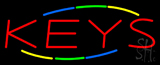 Multicolored Deco Style Keys Neon Sign