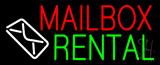 Mailbox Rental Logo Neon Sign