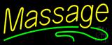 Yellow Massage Green Line Neon Sign