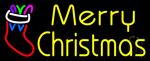 Yellow Merry Christmas Neon Sign