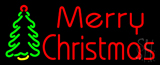 Merry Christmas Tree Neon Sign