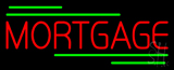 Red Mortgage Green Lines Neon Sign