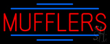 Red Mufflers Blue Double Lines Neon Sign