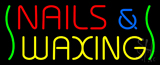 Red Nails and Yellow Waxing Green Waves Neon Sign
