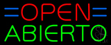 Red Open Blue Abierto Neon Sign