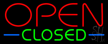 Open Closed Neon Sign
