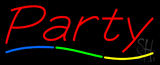 Red Party Neon Sign