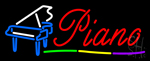 Piano with Logo Neon Sign