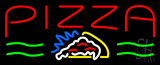 Red Pizza Logo Neon Sign